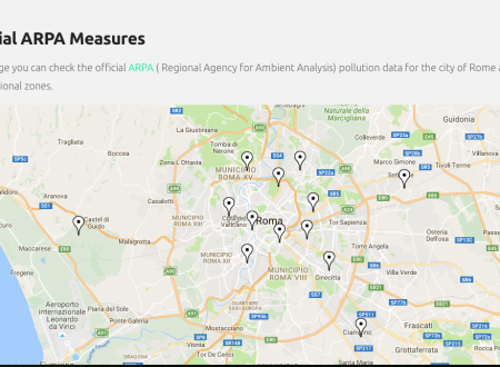 New page with official pollution data.