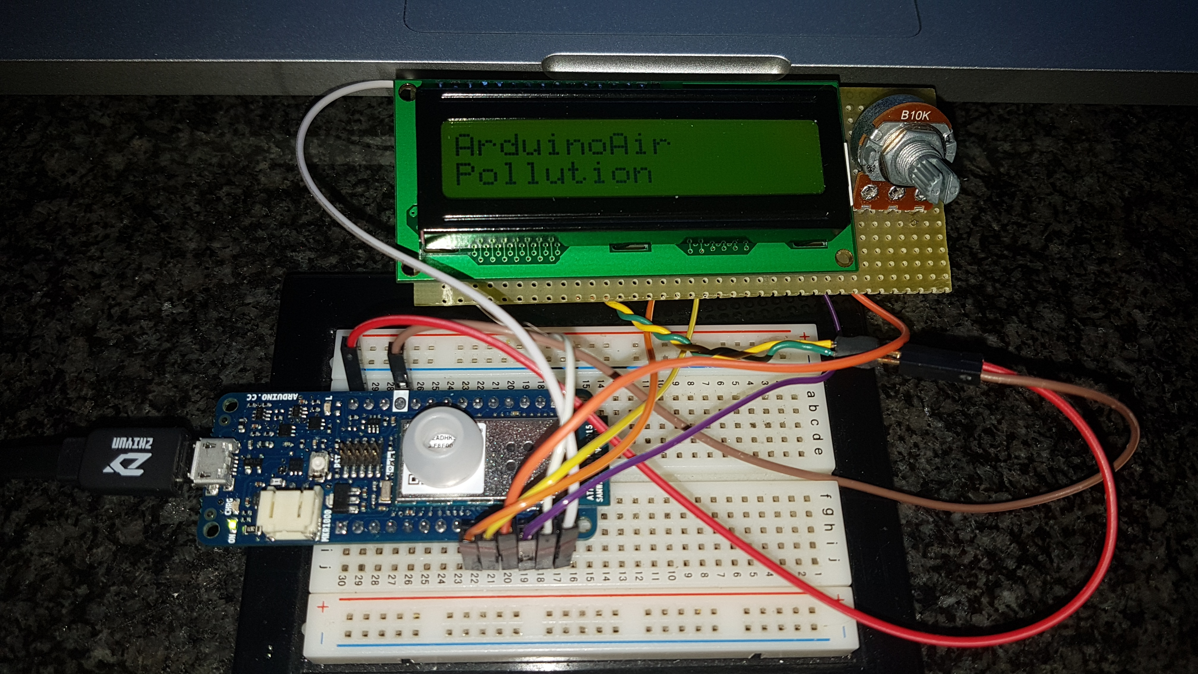 Tutorial: How to use Arduino/Genuino MKR1000 Display LCD HD44780 (16x2)